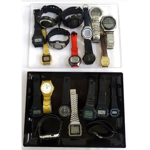 27 - SELECTION OF TWENTY LADIES AND GENTLEMEN'S CASIO QUARTZ WRISTWATCHES mostly digital examples, variou...