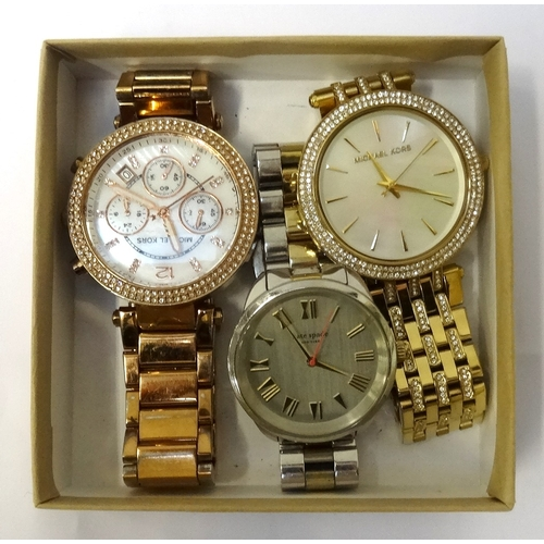 46 - THREE FASHION WRISTWATCHES comprising two by Michael Kors, model numbers MK-5491 and MK-3219; togeth...