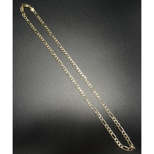 97 - NINE CARAT GOLD FANCY CURB LINK NECKLACE 48cm long and approximately 4.8 grams...