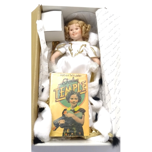 323 - THE DANBURY MINT LITTLE PRINCESS COLLECTORS DOLL from the Shirley Temple collection, dressed in flow...