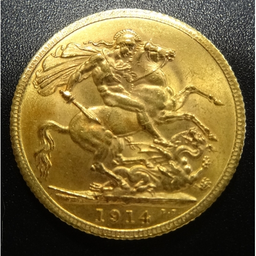 343 - GEORGE V GOLD SOVEREIGN COIN dated 1914...