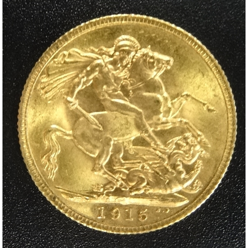 344 - GEORGE V GOLD SOVEREIGN COIN dated 1915...