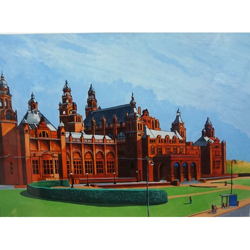 349 - ED O'FARRELL Kelvingrove Art Gallery, limited edition print, signed and numbered 5/200, 40cm x 54cm...