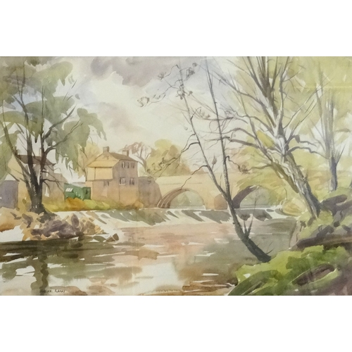 358 - ANGUS RANDS (British 1922-1985) Autumn river, watercolour, signed, 36cm x 53cm - RE-OFFERED IN TIMED...
