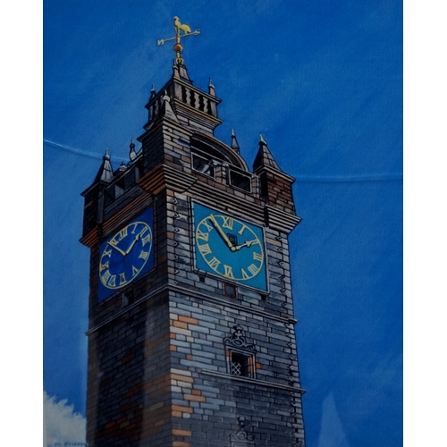 364 - ED O'FARRELL  The Tollbooth Tower, Glasgow and The Tollbooth Clock, two limited edition prints, both...