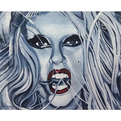 350 - ED O'FARRELL Lady Gaga Born This Way, limited edition print, signed and numbered 2/200, 28cm x 33.5c...