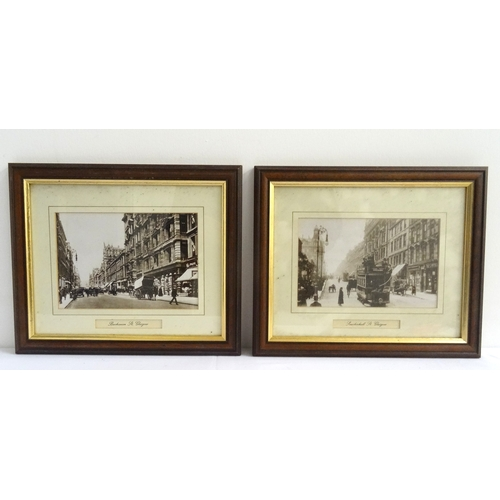 369 - FOUR GLASGOW RELATED PHOTOGRAPHIC PRINTS depicting Sauchiehall Street and three Buchanan Street scen...
