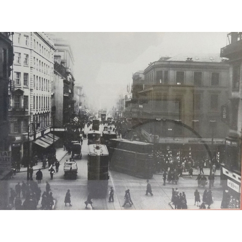 370 - FOUR GLASGOW RELATED PHOTOGRAPHIC PRINTS depicting Charing Cross, St Enochs, The Glasgow Bridge and ...