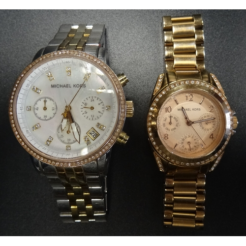 39 - TWO MICHAEL KORS WRISTWATCHES model numbers MK-5650 and MK-5613 (2)...