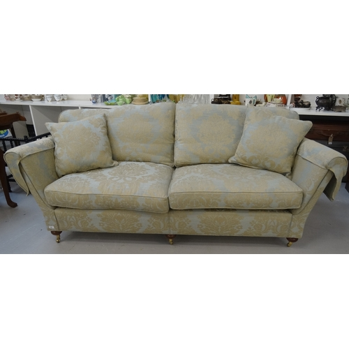 401 - LARGE DURESTA SOFA with a shaped back with loose seat and back cushions, and two separate cushions, ...