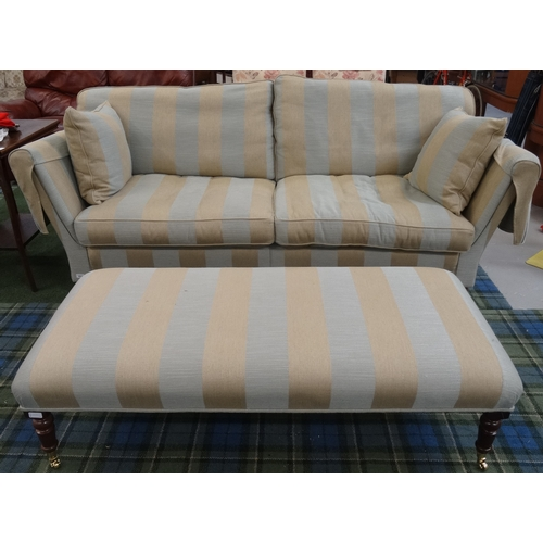 403 - LARGE DURESTA SOFA with a shaped back with loose seat and back cushions, and two separate cushions, ...