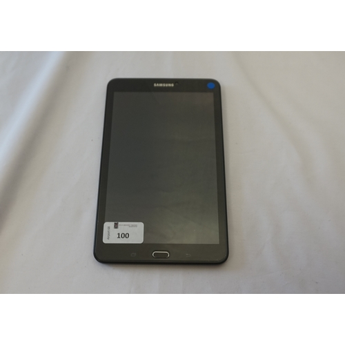 100 - SAMSUNG GALAXY TAB E TABLET Model: SM-T377A.  IMEI: 359768083464403.  Google Account Locked.  Note: ...