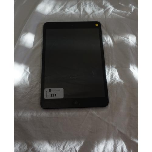 121 - APPLE IPAD MINI (16GB) WIFI - MODEL A1432 serial number: F4KJXU35F194.  i-cloud protected.  Note: It...