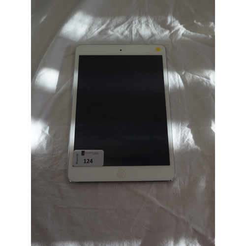124 - APPLE IPAD MINI 2 (WIFI) 16GB - MODEL A1489 serial number: DLXMTN1PFCM8.  i-cloud protected.  Note: ...