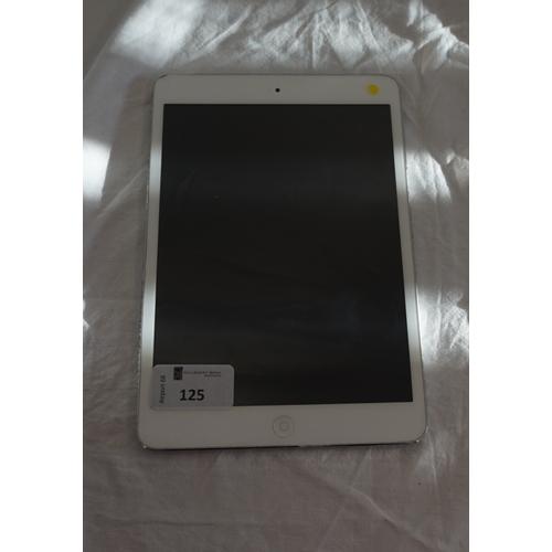 125 - APPLE IPAD MINI (WIFI) 16GB - MODEL A1432 serial number: F4LK3P9UF196.  i-cloud protected.  Note: It...