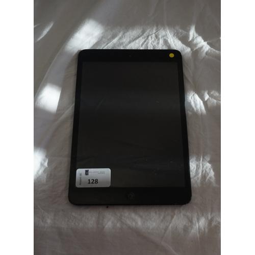 128 - APPLE IPAD MINI (WIFI) - MODEL A1432 serial number: F4KJMDF0F193.  i-cloud protected.  Note: It is t...