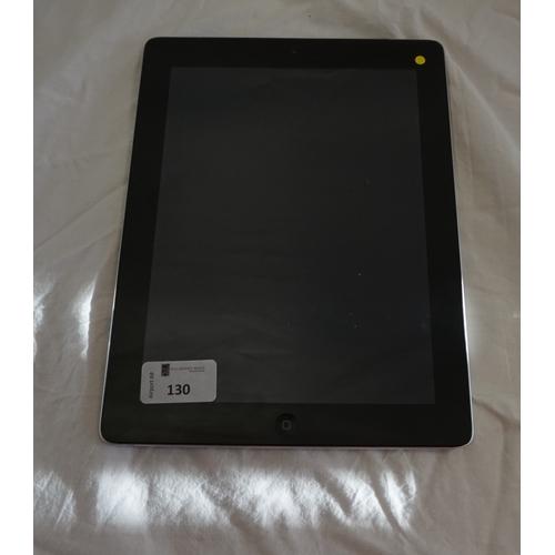 130 - APPLE IPAD (4TH GENERATION) WIFI & CELLULAR (MM) - MODEL A1460 IMEI: 990003077490825.  i-cloud prote...