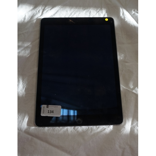 134 - APPLE IPAD AIR 2 (WIFI) - MODEL A1566 serial number:DMPRGHV2G5VJ.  i-cloud protected.  Note: It is t...