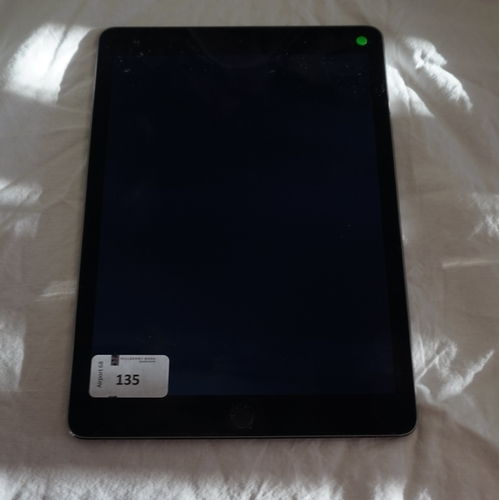 135 - APPLE IPAD AIR 2 (WIFI) 32GB - MODEL A1566 serial number: DMPSMHZ84G5D.  NOT i-cloud protected.  Not...