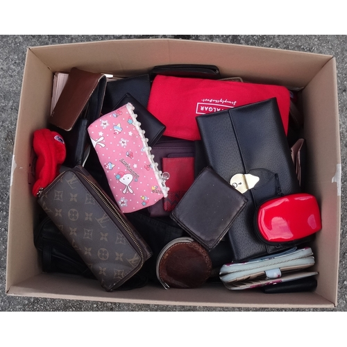 16 - ONE BOX OF PURSES, WALLETS AND DOCUMENT CASES...