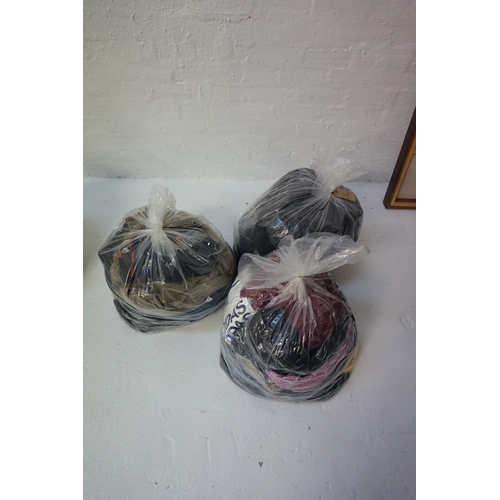 23 - THREE BAGS OF GENTS' CLOTHING ITEMS including: REGATTA; TRESPASS; BURTON; FISK OF OSLO; BARBOUR; DIE...