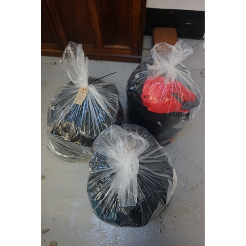 24 - THREE BAGS OF GENTS' CLOTHING ITEMS including: HUGO BOSS; LONSDALE; NEW LOOK; H&M; LEVI'S; TED BAKER...