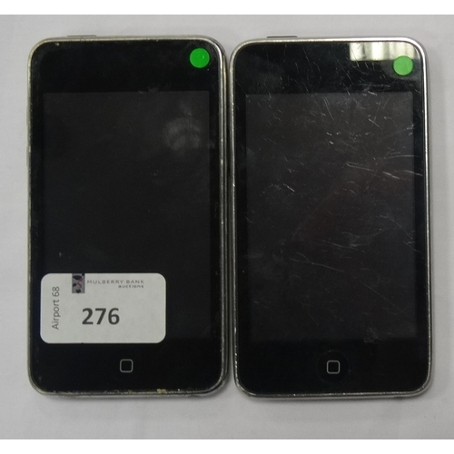 276 - TWO APPLE IPOD TOUCH (32GB) - MODEL A1318 serial numbers:1A01745Y6K2 & 9C02802A6K2.  Note: It is the...