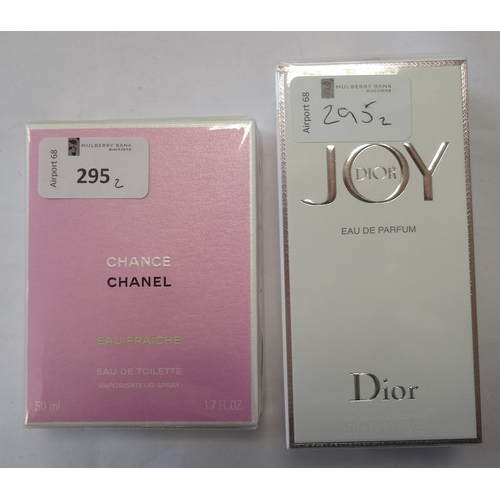 295 - TWO NEW AND UNUSED FRAGRANCES comprising: one CHANEL CHANCE EAU FRAICHE EAU DE PARFUM (50ml); and on...