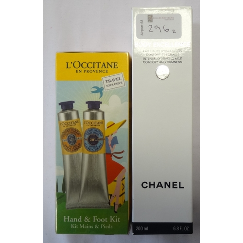 296 - TWO NEW AND UNUSED SKINCARE ITEMS comprising: one CHANEL BODY EXCELLENCE INTENSE HYDRATING MILK (200...