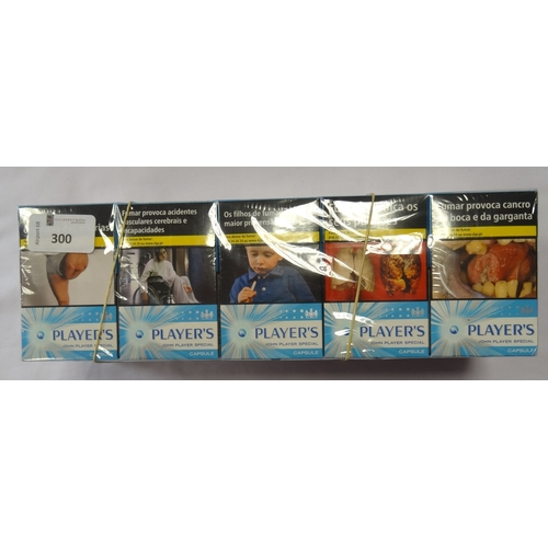 300 - SELECTION OF 400 CIGARETTES comprising: 200 x PLAYER'S JOHN PLAYER SPECIAL CAPSULE CIGARETTES; and 2...