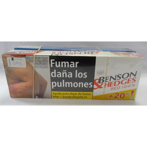 302 - SELECTION OF 400 CIGARETTES comprising: 200 x BENSON & HEDGES RED 100'S CIGARETTES; and 200 x RICHMO...