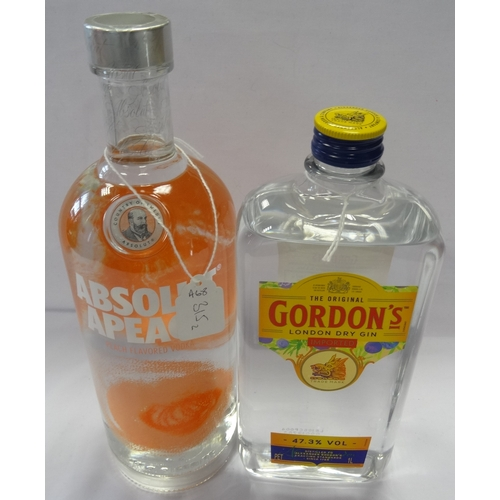 315 - TWO BOTTLES OF GIN AND VODKA comprising: one GORDON'S LONDON DRY GIN (1 Litre/ 47.3% abv); and one A...