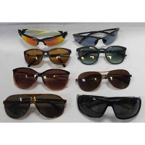 324 - SELECTION OF EIGHT PAIRS OF DESIGNER FRAME SUNGLASSES comprising: OAKLEY; NIKE; BOLLE; CARRERA; TED ...