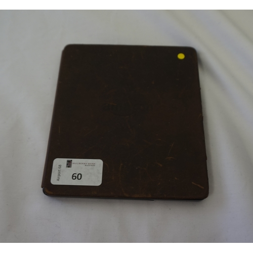60 - KINDLE OASIS 3G & WIFI DEVICE serial number: G0B0 GD09 6156 009J.  With case.  Note: It is the buyer...