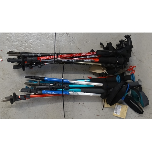 5 - SELECTION OF HIKING STICKS approx 16, various makes...