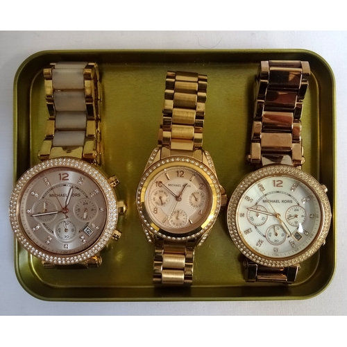 5 - THREE MICHAEL KORS WRISTWATCHES comprising model numbers MK-5613, MK-5896 and MK-05491 (3)...