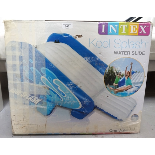 260 - INTEX INFLATABLE CHILD'S WATER SLIDE for either a swimming pool or free standing garden use, boxed...