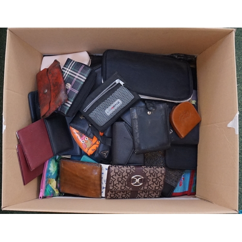 9 - ONE BOX OF PURSES, DOCUMENT WALLETS & WALLETS...