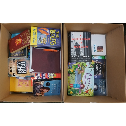 11 - TWO BOXES OF BOOKS including: hardbacks and paperbacks.  Fiction and non-fiction....