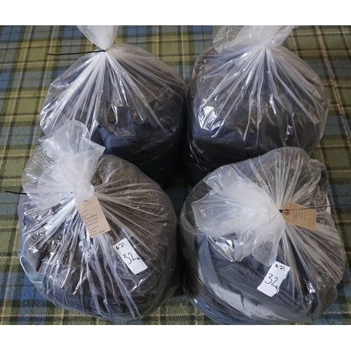 32 - FOUR BAGS OF GENTS' CLOTHING ITEMS including: LEVI STRAUSS; KARRIMOR; REGATTA; LACOSTE; SOVIET; M&S;...