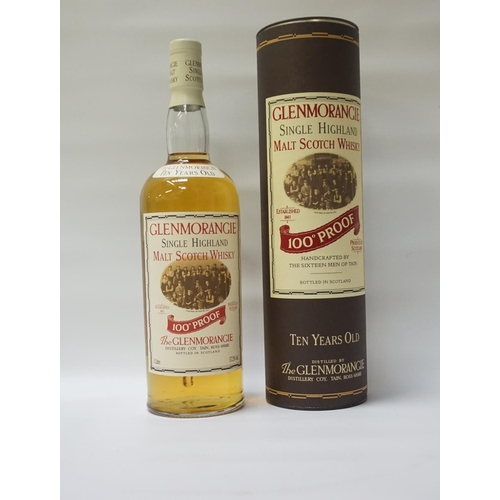1 - GLENMORANGIE 10YO - 100 PROOF A rare and well-presented bottle of the Glenmorangie 10 Year Old Singl...