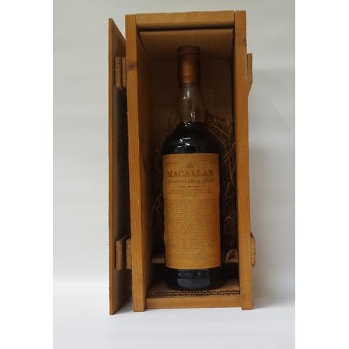 100 - MACALLAN ANNIVERSARY MALT 1958/59 A fine bottle of The Macallan Over 25 Years Old Anniversary Single...