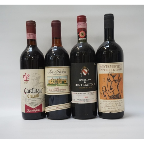 103 - SELECTION OF FOUR BOTTLES OF ITALIAN RED WINE comprising: one CASTELLO DI FONTERUTOLI CHIANTI CLASSI...