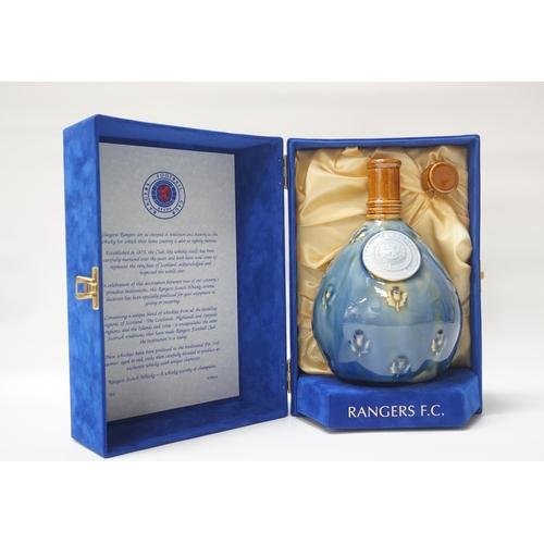 107 - RANGERS FC BLENDED WHISKY Nicely presented bottle of Blended Whisky made up of whisky from every reg...