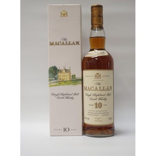 111 - MACALLAN 10YO A fine bottle of the Macallan 10 Year Old Single Malt Scotch Whisky matured in Sherry ...