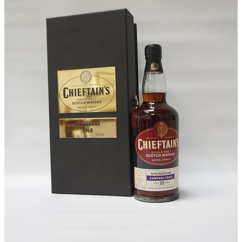 119 - SPRINGBANK 1968 CHIEFTAN'S A nice presentation of the Springbank 35 Year Old 1968 Vintage Single Mal...