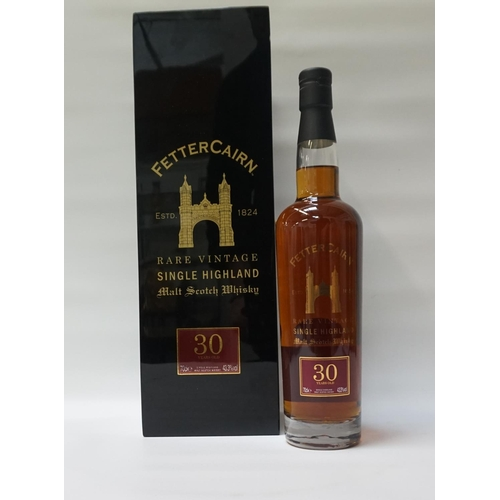 12 - FETTERCAIRN 30YO A beautifully packaged bottle of the Fettercairn 30 Year Old Single Malt Scotch Whi...