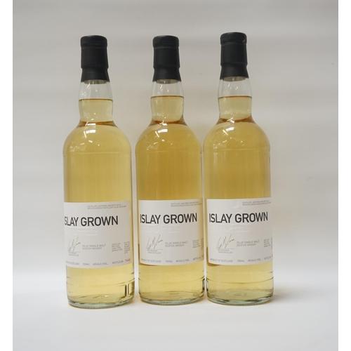 129 - THREE BOTTLES OF BRUICHLADDICH FUTURES ISLAY GROWN Bruichladdich Distillery offered individuals the ...