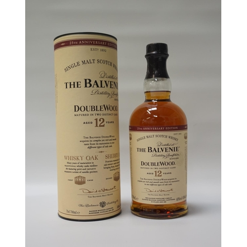 138 - THE BALVENIE 12YO DOUBLEWOOD 25TH ANNIVERSARY EDITION Bottled to celebrate the 25th Anniversary of t...