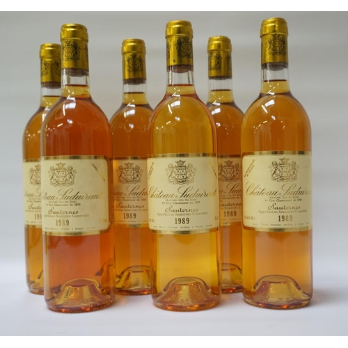 140 - CHATEAU SUDUIRAUT SAUTERNES 1989 VINTAGE Six bottles of the 1er Cru Classement de 1855 Chateau Sudui...